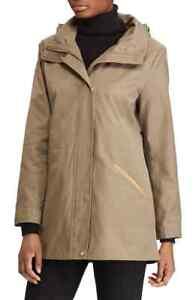 Women's Lauren Ralph Lauren Stowaway Hood Drawstring Waist Anorak Jacket Medium