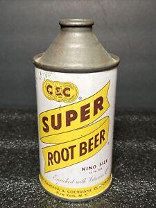 C&C  Super Root Beer  12oz cone top can Cantrel & Cochrane Brewing  NY,NY