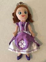 "Disney Sofia the First Soft Doll 11"" Plush with Purple Dress"