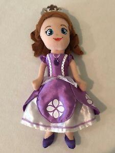 "Disney Princess Sofia the First Sophia Soft Cloth Plush Doll 11"" Purple Dress"