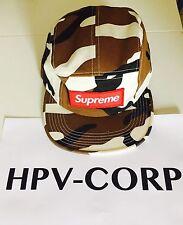 SUPREME CAMO CAMP CAP/CASQUETTE BROWN/MARRON 5 PANEL