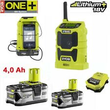 Ryobi One + 18 V Batterie Radio r18r-0 + 2x 4,0 Ah Batterie + Chargeur Nachf. CDR 180 m