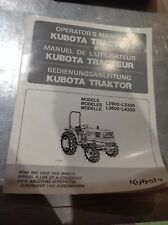 KUBOTA L2900. L3300, L3600 + L4200 OPERATORS MANUAL