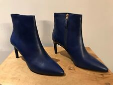 "LK Bennett ""Rosa"" Ankle Boot In Ultra Blue Calf Leather Size UK 7 / 8 - EU 41"