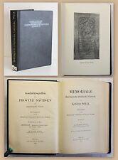 Geschichtsquellen der Provinz Sachsen Stolle Memoriale Chronik Thüringen 1900 xz