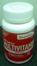 WALGREENS ONE DAILY MULTIVITAMINS WITH IRON 365 COUNT NIB