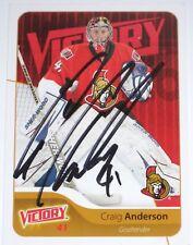 CRAIG ANDERSON SIGNED 11-12 UPPER DECK VICTORY OTTAWA SENATORS CARD AUTOGRAPH!!!