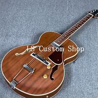 US Stock Electric Acoustic Guitar Full Solid Hollow Body Sapele Ebony Bridge