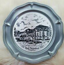 German Pewter Bad Nenndorf Souvenir Wall or Display Plate RARE
