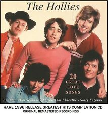 The Hollies - Very Best 20 Greatest Hits Compilation (1964 - 1974) RARE 1996 CD