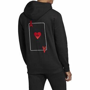 adidas Men's Ace Of Hearts Hoodie - Black