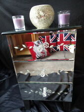 Vintage/Retro Glass Bedside Tables & Cabinets with 3 Drawers