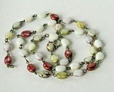 Vintage Scottish Agate Bead Necklace L-9