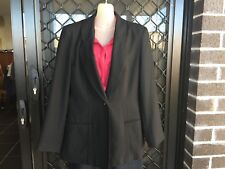 Table 8 Women's Jacket - Black, Button Up, Collared, Formal - Size 14