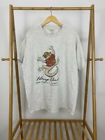 VTG 90s Hang On The Lord's A Comin' Short Sleeve T-Shirt Size XL