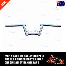 """7/8"""" 22m Z Handlebars for Harley Chopper Bobber Cruiser Custom Bike Chrome Alloy"""