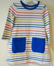 Brand New Mini Boden Striped Front Pocket Dress Girl's Size 6-7