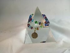 Quantum EMF Jewelry - 2 Multicolor Swarovski Crystal Double Duty Bracelets