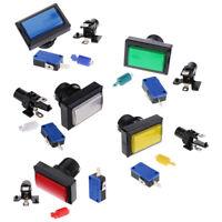 Set di pulsanti rettangolari Arcade con pulsante LED illuminato e