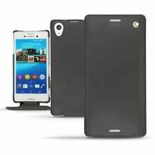 Noreve Tradition Leather Flip Case for Sony Xperia M4 Aqua - Black