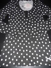Ladies  Peter Alexander long sleeve spot henley top     Size XS   black