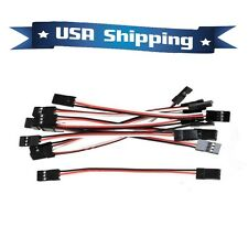 10Pcs 20CM Male to Male JR Plug Servo Extension Lead Wire Cable 200mm (8in)