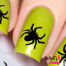 Spider Stencils for Nails, Halloween Nail Stickers, Nail Art, Nail Vinyls