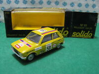 PEUGEOT  104  ZS  Rally d'Antibes           -  1/43  Solido  81 Mint