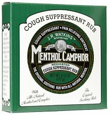 J.R. Watkins Menthol Camphor Ointment Medicated Cough Suppressant Pain Relieving