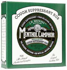J.R. Watkins Menthol Camphor Ointment Medicated Cough Suppressant Pain Relieving