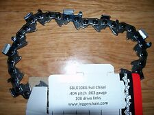 "1 Oregon Full chisel 36"" chain 68LX108G 404 pitch chain .063 gauge 108 DL"