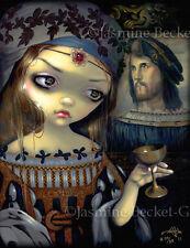 Lucrezia Borgia Jasmine Becket-Griffith CANVAS PRINT Renaissance Vampire art