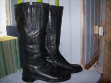 bottes vintage 80 .plein cuir noir .taille 39. (28/V/G/GO)