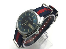 Vintage USSR Russian Mechanical (Automatic) mens watch Blue SLAVA GLORY day date
