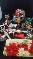 VINTAGE CHRISTMAS ORNAMENTS AND DECORATIONS LOT # 5