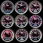 """2"""" 52MM LED CAR BOOST/VACUUM/WATER/OIL TEMP/PRESSURE/VOLT/FUEL/EGT/TACHO GAUGE"""