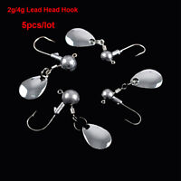5Pcs/lot Crank Jig Head Hook Lead Jig Lure Hard Baits Worm Metal Fishing Hook