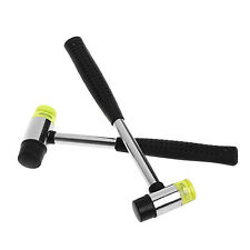 Double Face DIY 25mm Soft Tap Rubber Hammer Mallet Leather Hand Tool