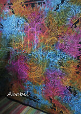 Queen Fatima Hand Hamsa Tapestry Multicolor Mandala Wall Hanging Bedspread Decor
