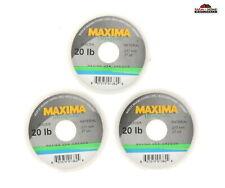 (3) Maxima Ultragreen Leader Line 20lb ~ New
