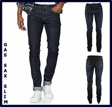 jeans da uomo gas sax elasticizzato slim fit skinny stretch a vita bassa w31 44