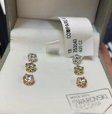 Kiera Couture Opal Sterling Silver Swarovski Zirconia Earrings NIB