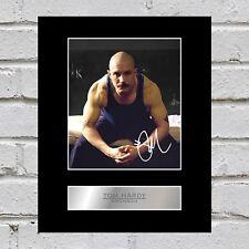 Tom Hardy Signed Mounted Photo Display Bronson