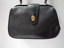 black faux leather crossbody hand bag purse structured magnetic satchel chevron