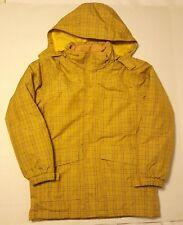 Land's End Boys M 10/12 Mustard Yellow Plaid Winter Jacket