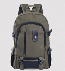 Outdoor Travel Sport Hiking Rucksack Men Backpack Casual Canvas School Bag Male