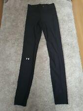 Under Armour HeatGear Womens 3/4 Tights Black Gym Running Sports Training Capri
