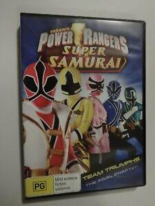 Saban's Power Rangers Super Samurai DVD Team Triumphs The Final Chapter GOOD