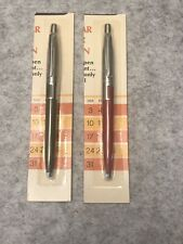 2 Vintage Parker Jotter Calendar Ball Point Pens Unused On Factory Card