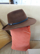 NEW Helen Kaminski XY Formed Felt Wide Brim Hat, Reddish Brown, size M